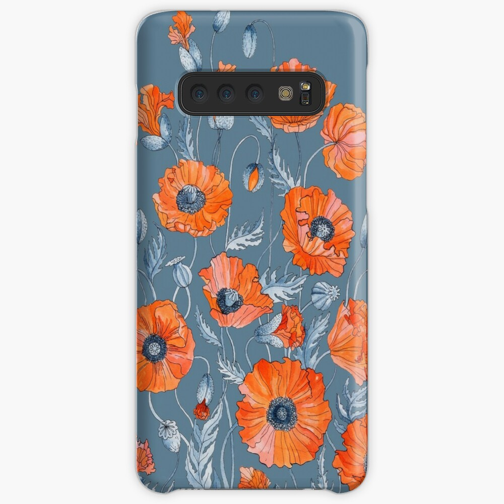 Poppies Floral Botanical art Cases & Skins for Samsung Galaxy