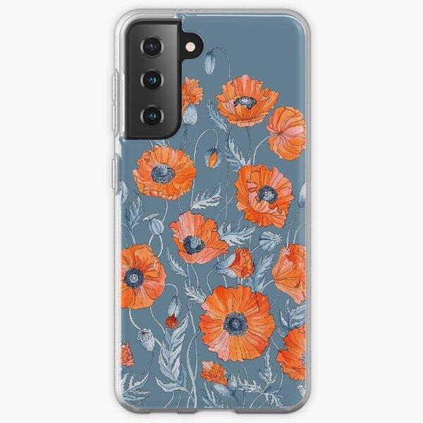 Poppies Floral Botanical art Samsung Galaxy Soft Case