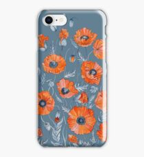 Poppies Floral Botanical art iPhone Case/Skin