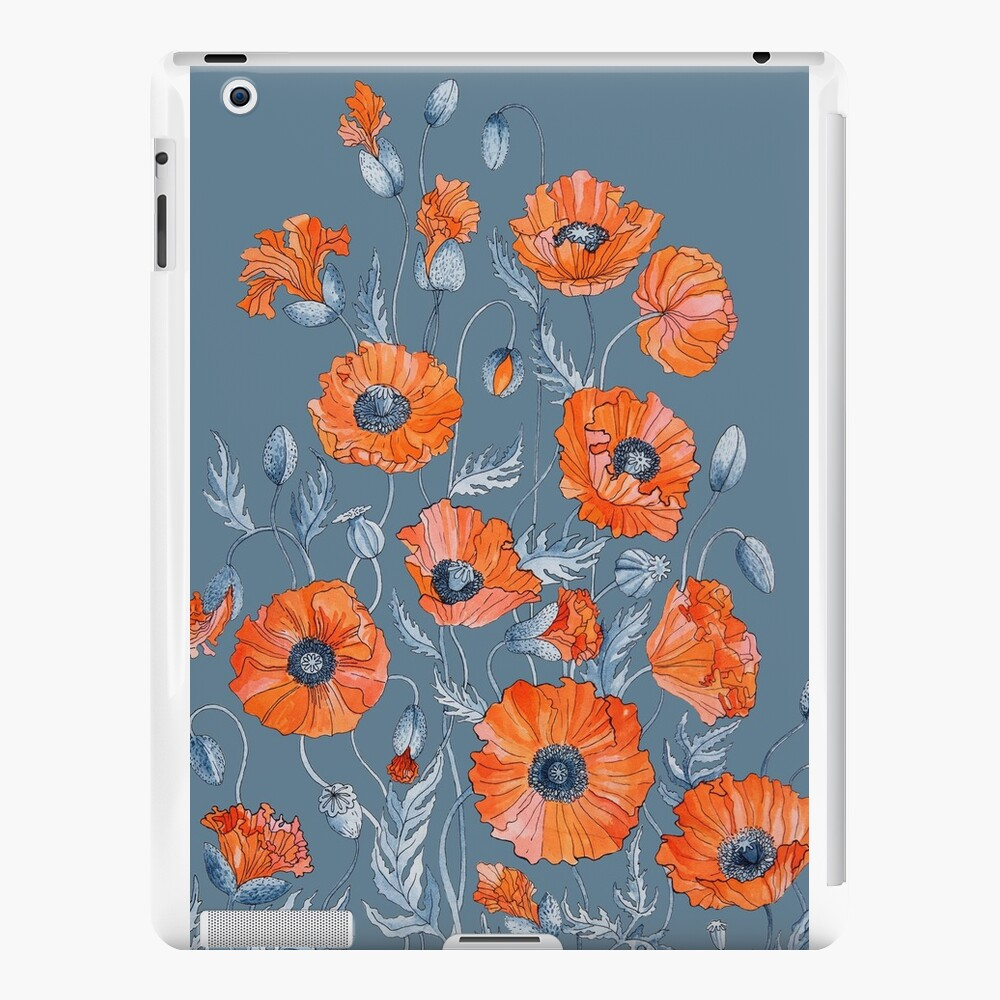 Poppies Floral Botanical art iPad Cases & Skins