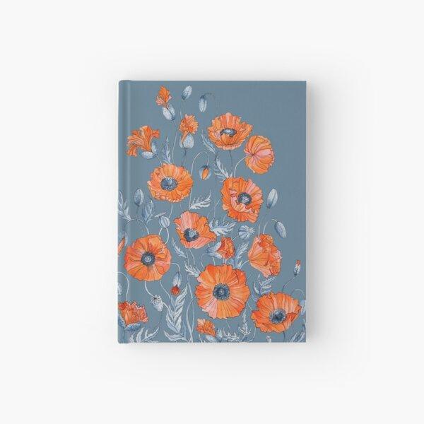 Poppies Floral Botanical art Hardcover Journal