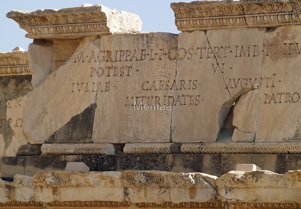 Latin Inscriptions from 10 BC by Memaa