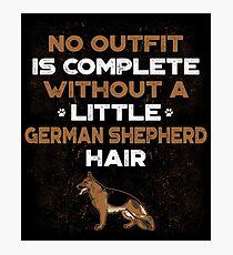 GERMAN SHEPHERD HAIR Photographic Print