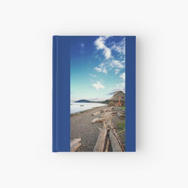 Resort Beach #1 (verticle panorama) Hardcover Journal