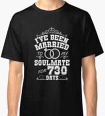 2nd Wedding Anniversary Gift T-shirt. Couples Gifts Classic T-Shirt