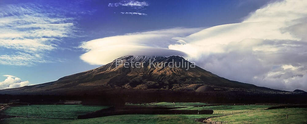 The Mountain That Knows How to Hook the Passing Clouds by Peter Kurdulija