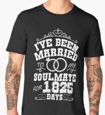 5th Wedding Anniversary Gift T-shirt. Couples Gifts Men's Premium T-Shirt