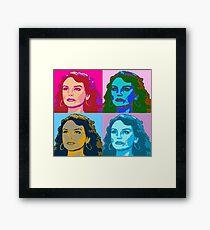 Warholized Elaine Marley Framed Print