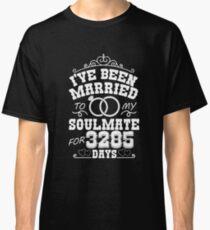 9th Wedding Anniversary Gift T-shirt. Couples Gifts Classic T-Shirt