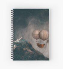 Vintage Fantasy Balloon  Spiral Notebook