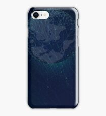 Sci-fi technologies global network with world map iPhone Case/Skin