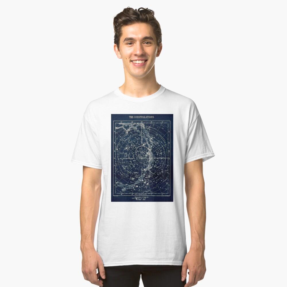 DIE STERN-KONSTELLATIONEN: Weinlese-Galaxie-Druck 1900 Classic T-Shirt