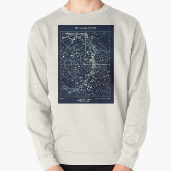 THE STAR CONSTELLATIONS : Vintage 1900 Galaxy Print Pullover Sweatshirt