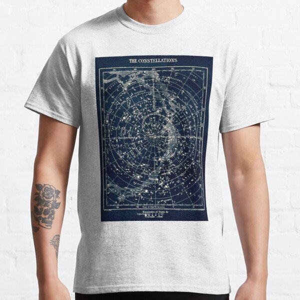THE STAR CONSTELLATIONS : Vintage 1900 Galaxy Print Classic T-Shirt