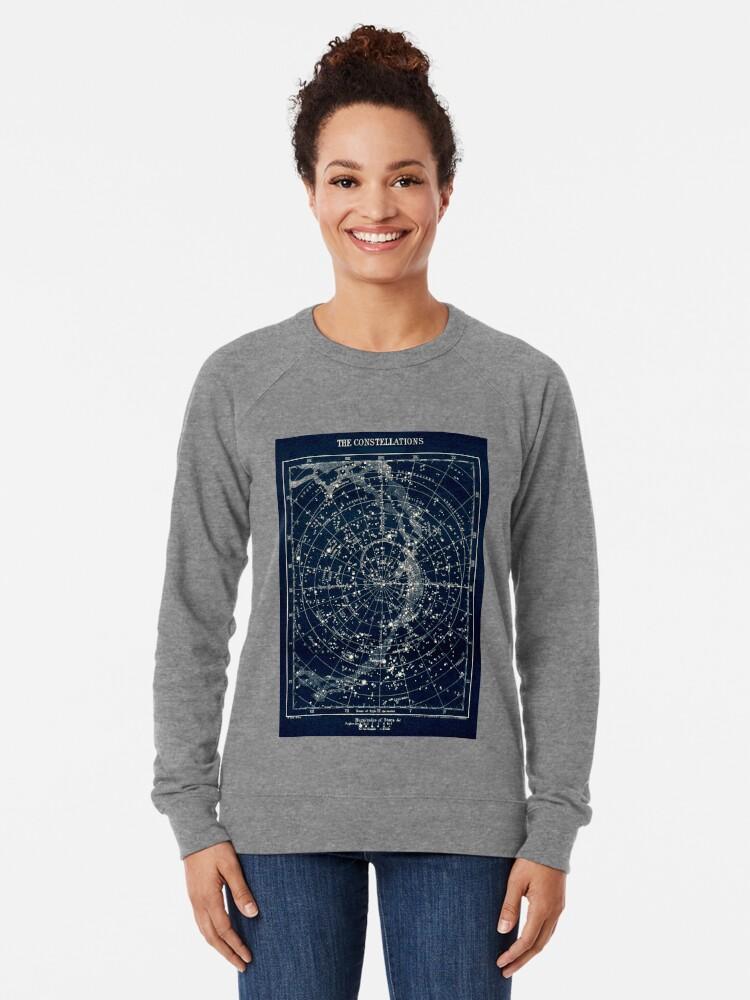 Alternative Ansicht von DIE STERN-KONSTELLATIONEN: Weinlese-Galaxie-Druck 1900 Leichtes Sweatshirt