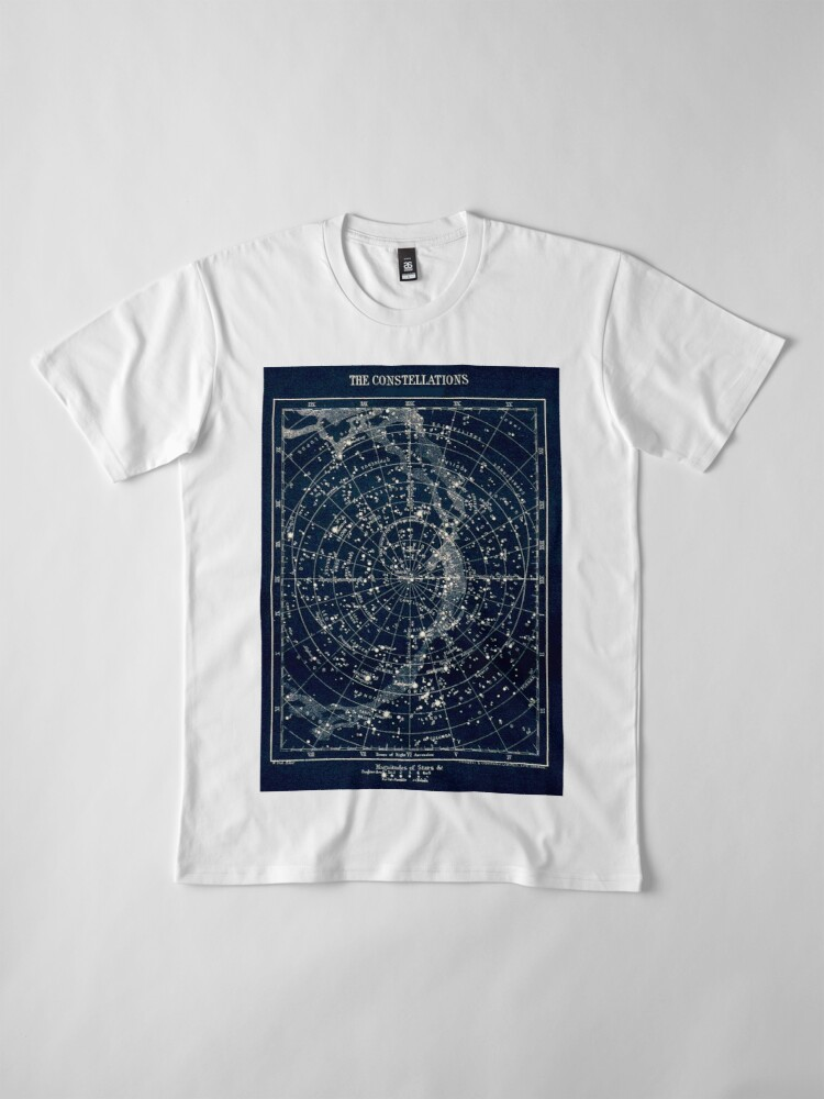 Alternate view of THE STAR CONSTELLATIONS : Vintage 1900 Galaxy Print Premium T-Shirt