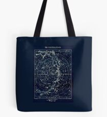 THE STAR CONSTELLATIONS : Vintage 1900 Galaxy Print Tote Bag