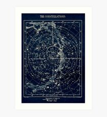 THE STAR CONSTELLATIONS : Vintage 1900 Galaxy Print Art Print