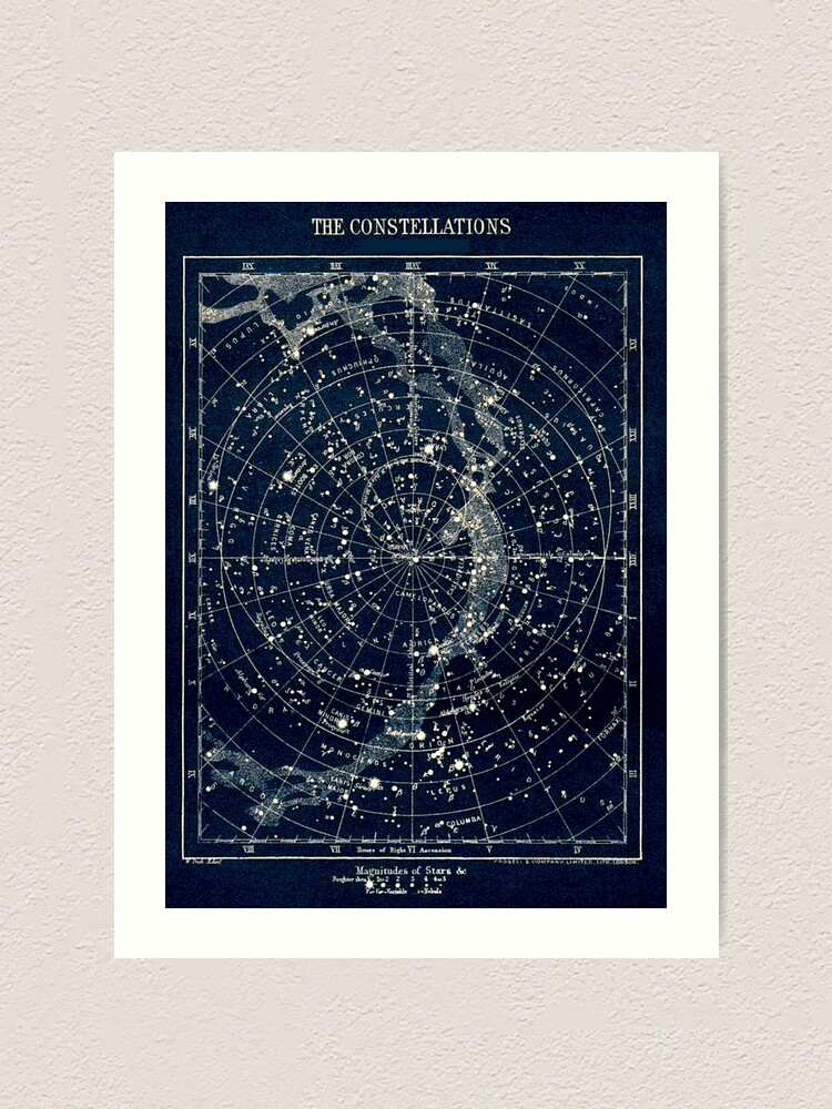 Alternate view of THE STAR CONSTELLATIONS : Vintage 1900 Galaxy Print Art Print