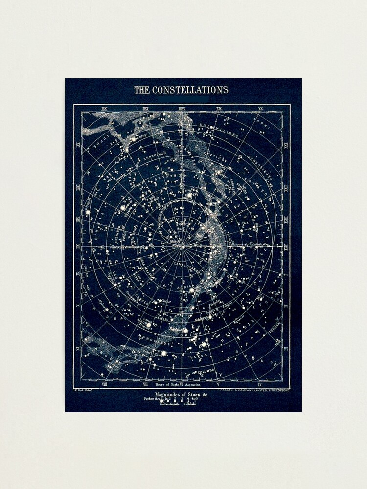 Alternate view of THE STAR CONSTELLATIONS : Vintage 1900 Galaxy Print Photographic Print