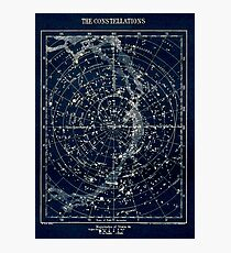 Lámina fotográfica LAS CONSTELACIONES ESTRELLA: Vintage 1900 Galaxy Print
