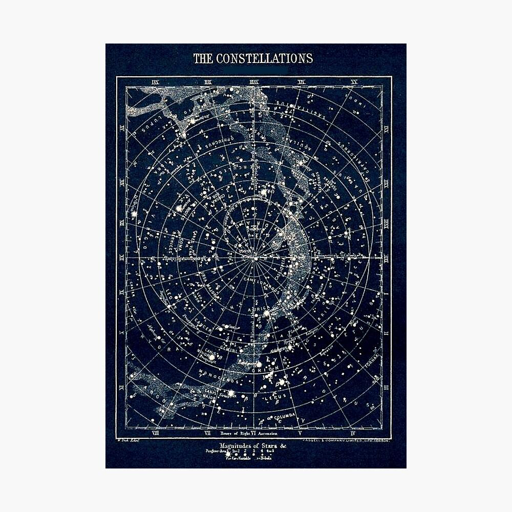 DIE STERN-KONSTELLATIONEN: Weinlese-Galaxie-Druck 1900 Fotodruck