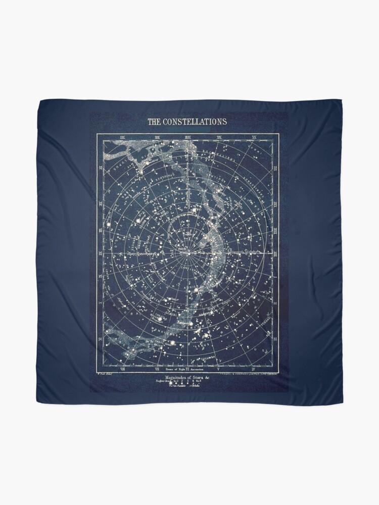Alternative Ansicht von DIE STERN-KONSTELLATIONEN: Weinlese-Galaxie-Druck 1900 Tuch