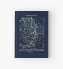 THE STAR CONSTELLATIONS : Vintage 1900 Galaxy Print Hardcover Journal