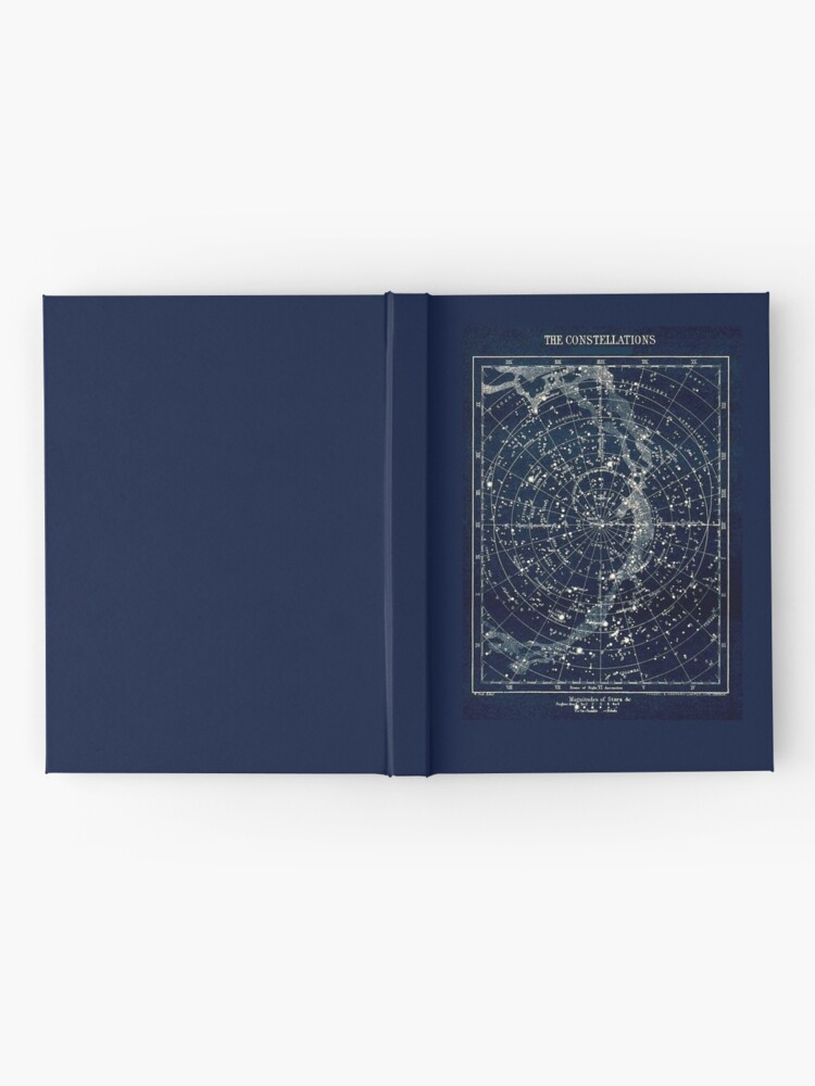 Alternate view of THE STAR CONSTELLATIONS : Vintage 1900 Galaxy Print Hardcover Journal