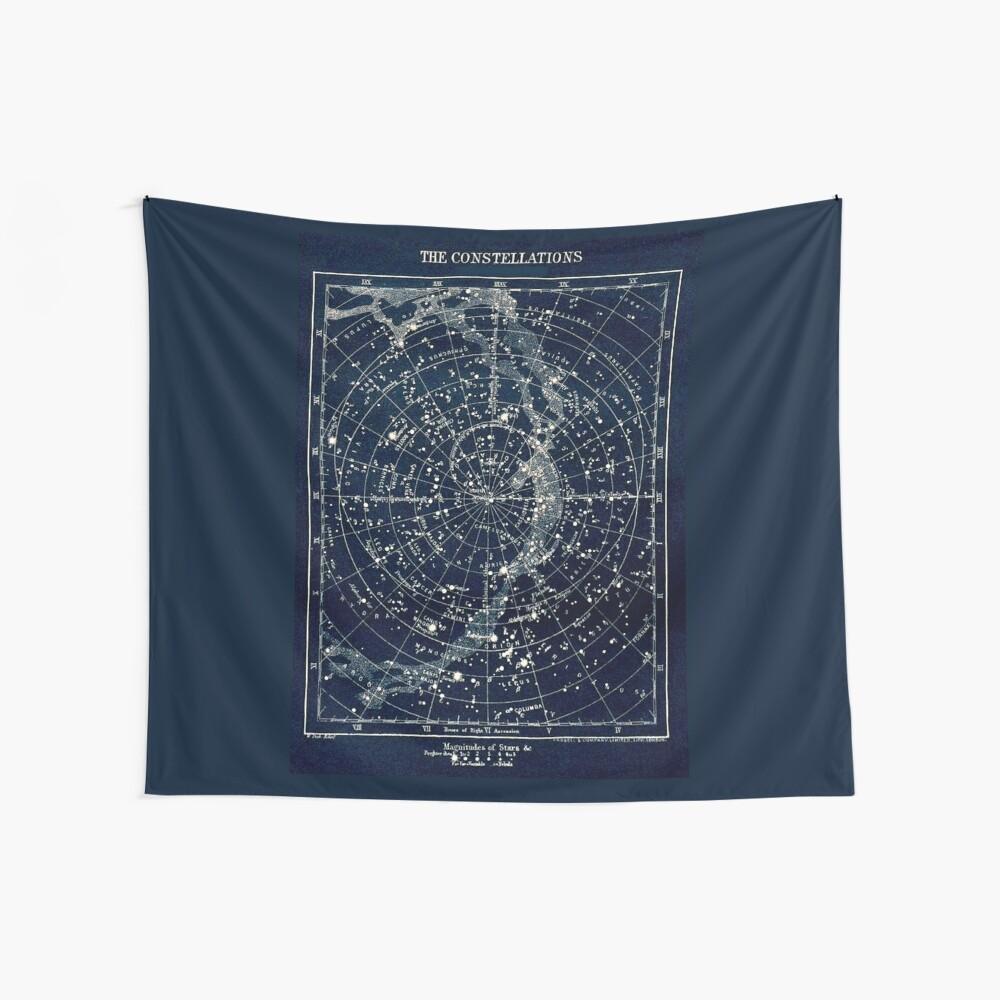 DIE STERN-KONSTELLATIONEN: Weinlese-Galaxie-Druck 1900 Wandbehang