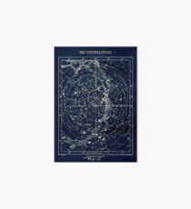 THE STAR CONSTELLATIONS : Vintage 1900 Galaxy Print Art Board