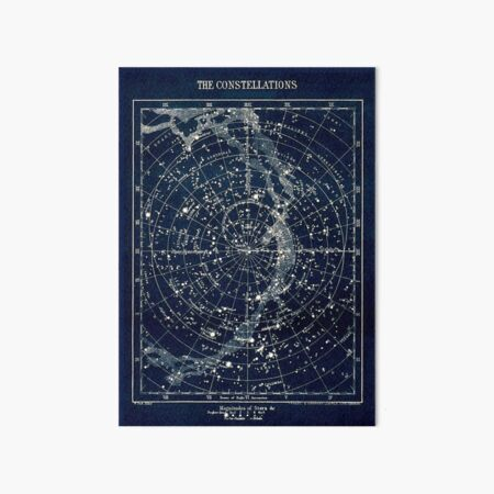THE STAR CONSTELLATIONS : Vintage 1900 Galaxy Print Art Board Print