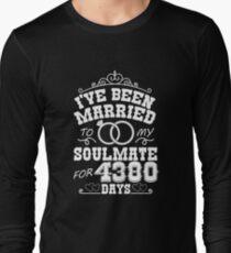 12th Wedding Anniversary Gift T-shirt. Couples Gifts Long Sleeve T-Shirt