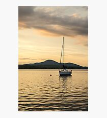 Pale Gold Solo Mooring Photographic Print