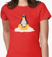 LINUX TUX  PENGUIN EGG MISCARRIAGE  Women's Fitted T-Shirt