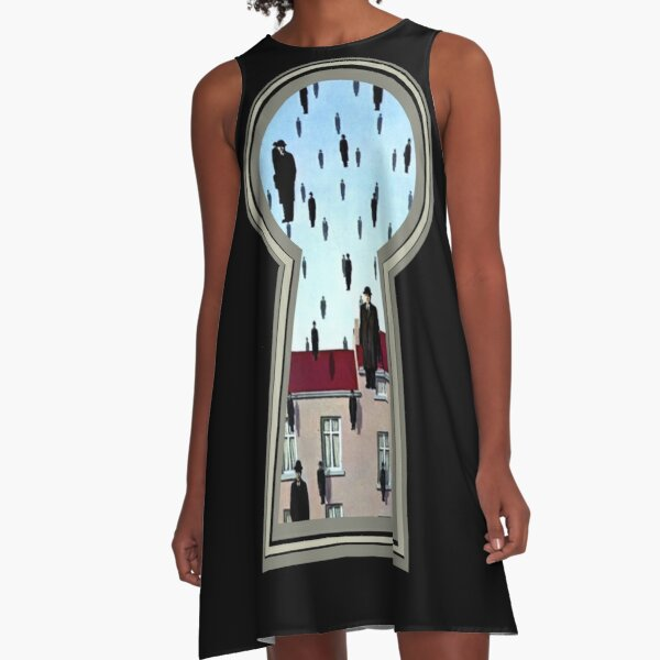 """""""Magritte from the lock"""" A-Line Dress"""
