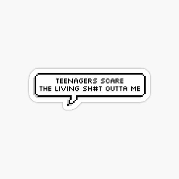 MCR My Chemical Romance, Teenagers pixel bubble sticker censored Sticker