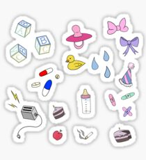 Melanie Martinez themed doodle set Sticker