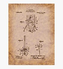 Magician - 1916 Knife Trowing Illusion Patent Photographic Print