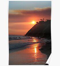 Zaca Fire Sun Poster