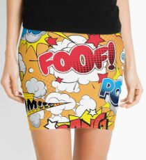 Foof Seamless comics Mini Skirt