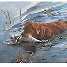 last retrieve watercolor by Mike Theuer