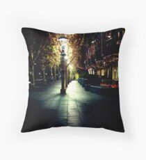And I saw that the path was dark Throw Pillow