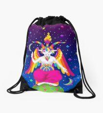 1997 Neon Rainbow Baphomet Drawstring Bag