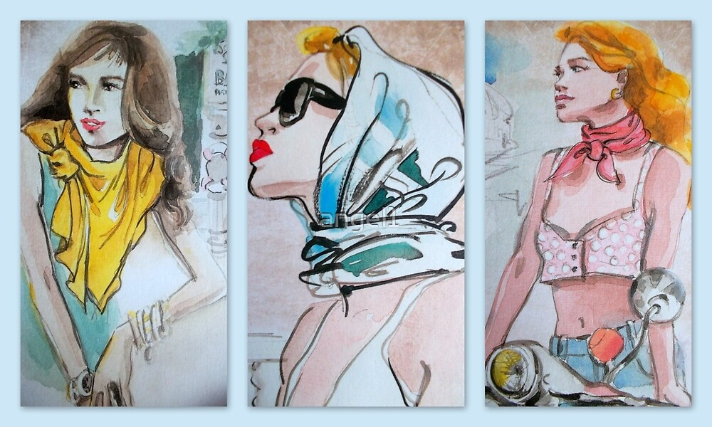 Three ways to wear a scarf by ©The Creative  Minds