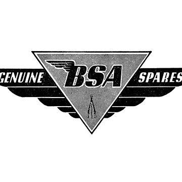 vintage BSA SPARES logo by wolfman57