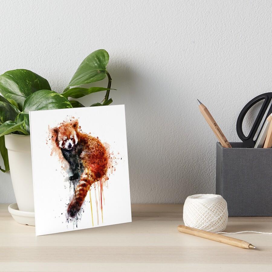Red Panda Art Board Print