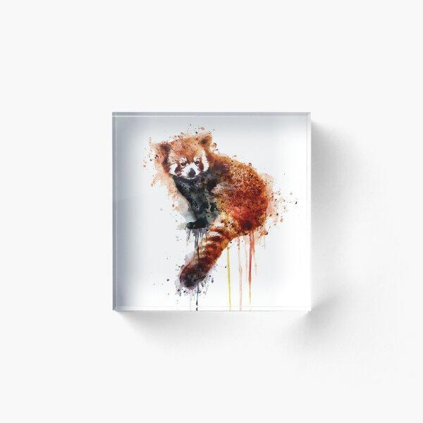 Red Panda Acrylic Block