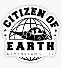 Earth Dimension C-137 Sticker