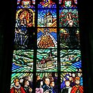 Vibrant Religious Window by Lee d'Entremont